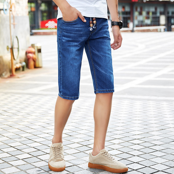 2018 Summer Fashion New Men's Casual Short Jeans Men's Washed Straight Cowboy Denim Shorts Large Big Size 28-48 For 150KG Men