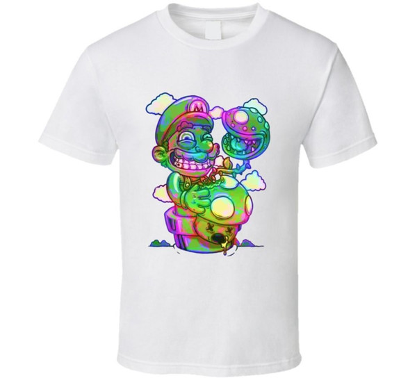 Mario Bros T-shirt Video Game Tee Funny Cartoon Cartoon t shirt men Unisex New Fashion tshirt Loose Size top ajax