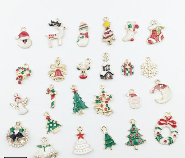 2019 oil drop Christmas diy pendant earrings accessories hair ornaments shoe ornaments alloy material