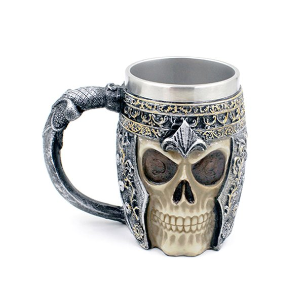 Eco-Friendly Tasses À Café Double Mur 3d Tasses Tasse À Café Tasse Chevalier Tankard Dragon Drinking Cup Pour Halloween Décor Tasse À Café