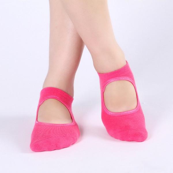 Women Sports Fit Yoga Socks Anti Skid Breathable Fitness Pilates Socks Dancing Gym Non Slip Cotton Sock Heel Stockings