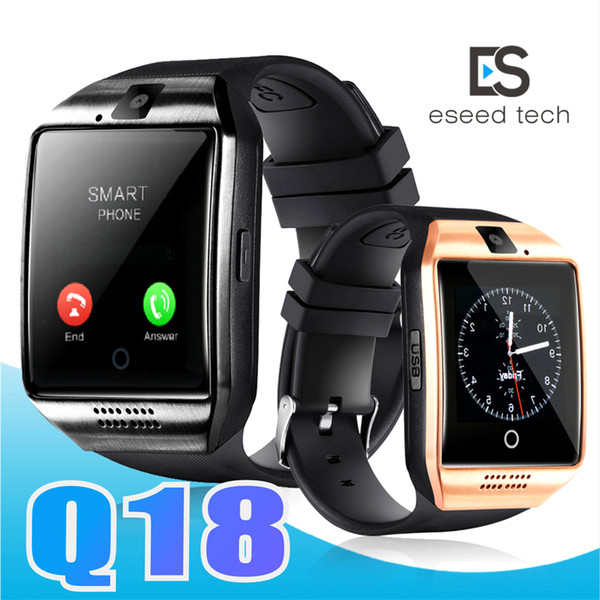 top popular Q18 smart watch watches bluetooth Q18 smart watches for android phones Bluetooth Smartwatch with Camera q18 Support Tf sim Card 2020