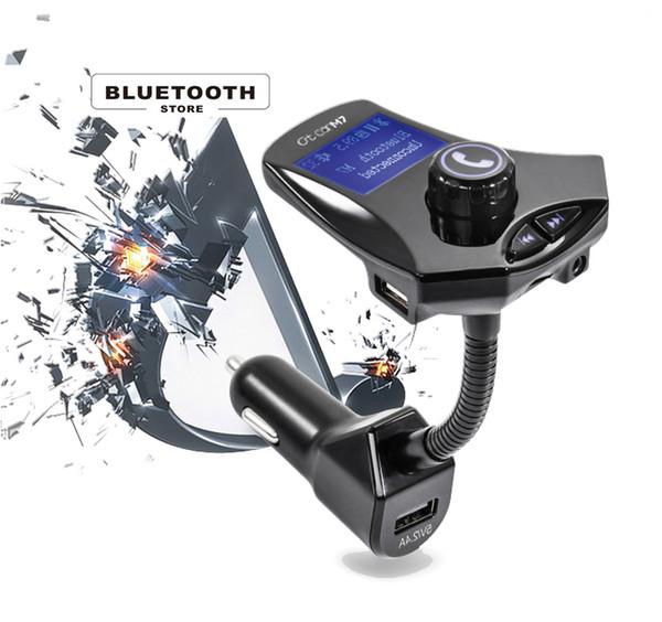 Cargador de coche inalámbrico Reproductor de MP3 M7 Pantalla LCD Respuesta de una tecla USB Flash Disk To Play Music TF Extensión Intelligengt Decodificación de alta calidad