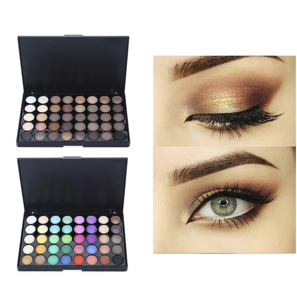 POPFEEL Eye Shadow Smoky Makeup New 40 Color Warm Earth Color Matte Bright Eyeshadow Palette Stamp Maquillage