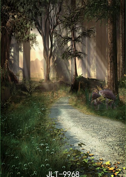 mysterious road photography backdrops ancient forest halloween backdrop vinyl cloth customize backgrounds for photo studio Photoshoot