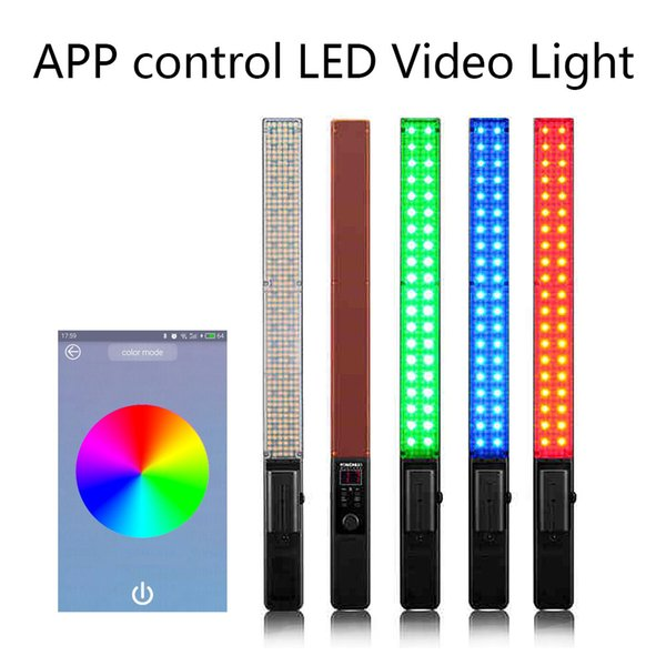 App Controle YONGNUO YN360 Handheld LED Luz de Vídeo 3200 k 5500 k RGB Colorido 39.5 CM ICE Stick Foto Profissional LEVOU vara