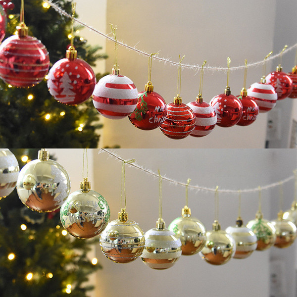 24pcs/lot Christmas Tree Balls Christmas Decorations For New Year Home Decorations Bauble Party Hanging Ornament Kerstballen New