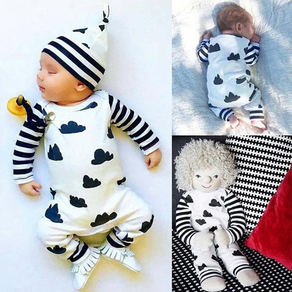Summer Newborn Infant Baby Boy Girl Romper Jumpsuit Playsuit Bodysuit Outfits KW