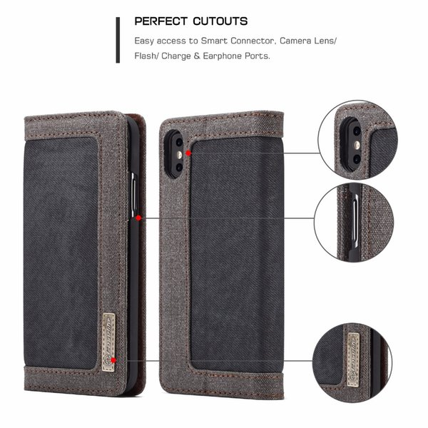 Venda Por Atacado casos para iphone 5 5s 6 6 s plus case para 7 8 plus lona wallet capa flip stand case para iphone x xs xr xs max caso coque