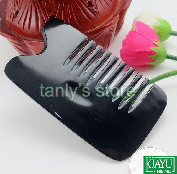 20pcs / lot cara de belleza 8 dientes masaje guasha peine placa de desguace 100% Buffalo Horn