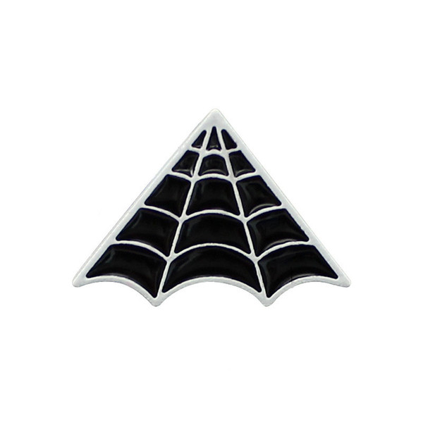 Black Spiderweb Brooches Pins For Women Mens Suit Shirt Collar Badge Lapel Pins Wholesale Jewelry Broche Drop Shipping