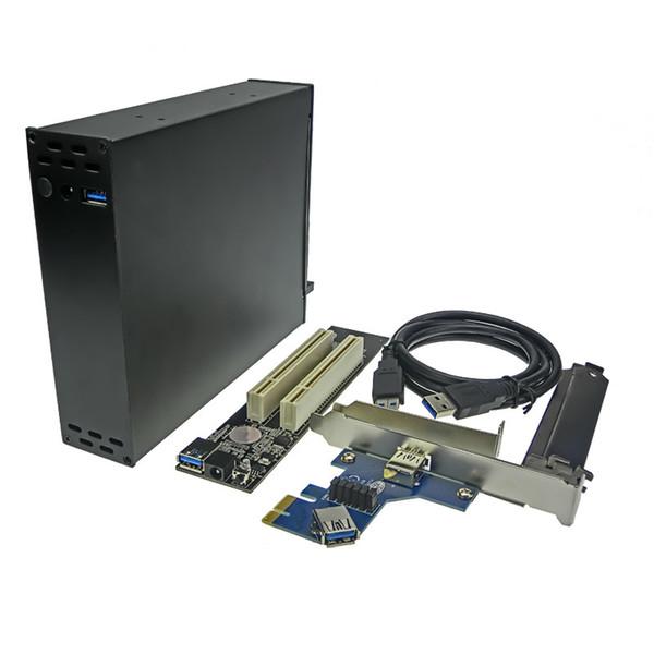 PCI-E To PCI Riser Card Optical Drive HubBay 2 Slot 32bit PCI Dock ENCLOSURE
