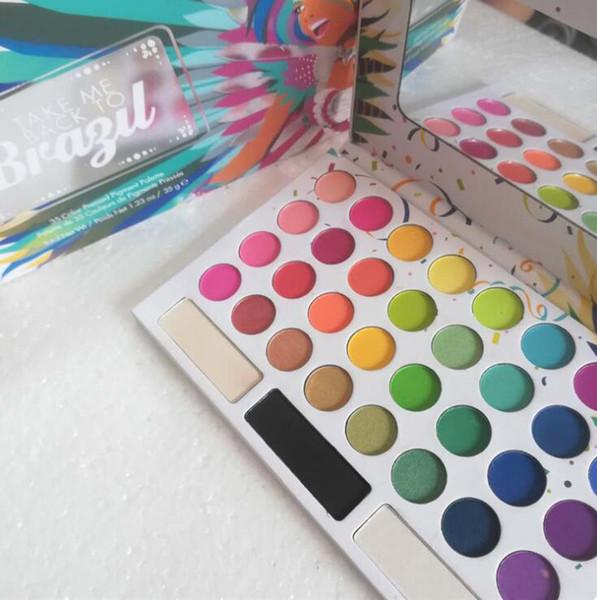 Newest Hot Brand Makeup Palette 35Colors eye shadow TAKE ME BACK TO BRAZIL EyeShadow Palette Eye Cosmetics 2018 best