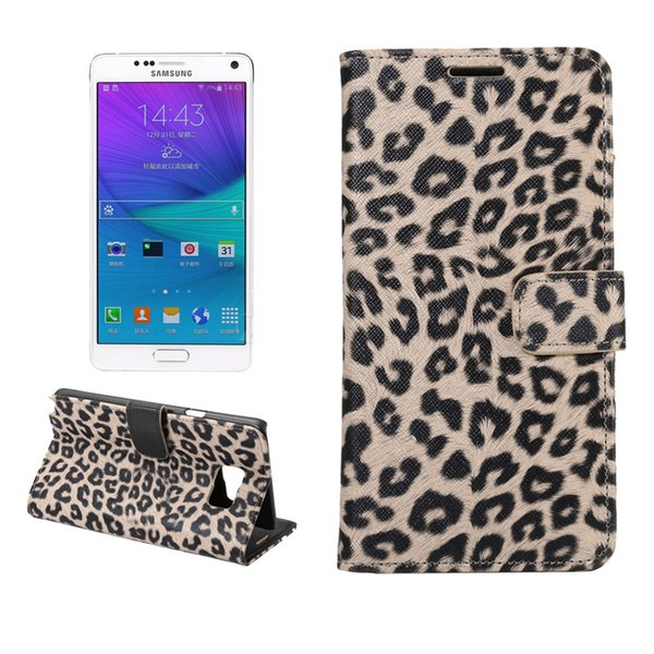 Sexy leopard print Leather Case For Samsung Galaxy Note 5 Wallet Flip stand Cover carcasas With Card Slot Mobile Phone Bags