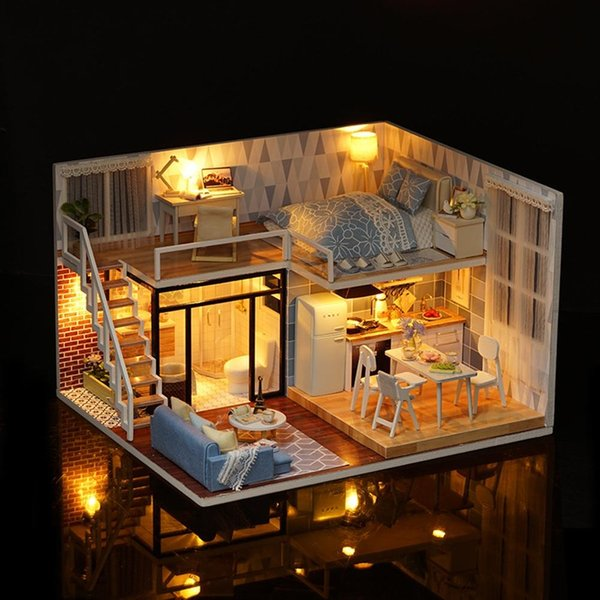 LeadingStar Diy Wooden Doll House Furniture Kits Toys Handmade Craft Model Kit DollHouse Toys Gift For Children