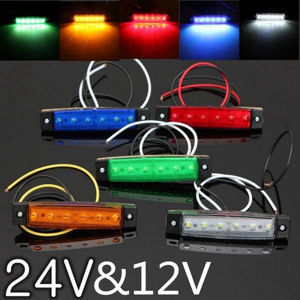 Luci esterne per auto DC LED 24V 6 SMD LED Auto Car Truck Truck Lorry Indicatore di direzione laterale basso Luce di rimorchio Luce di retromarcia