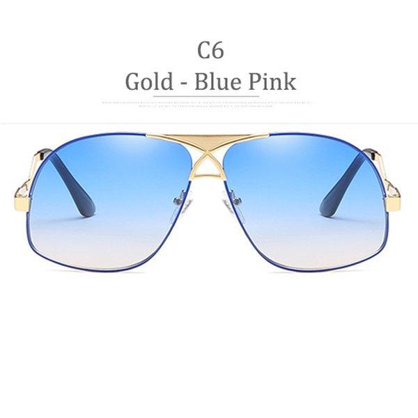 Cornice in oro lucido C6 Blu Rosa
