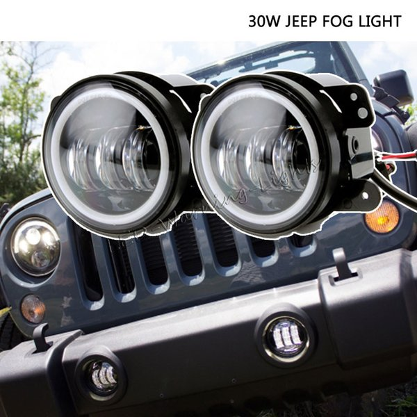 Jeep Wrangler Fog Lights >> Pair 30w 4inch Off Road Led Fog Light For Jeep Wrangler 07 15 Speakers Universal Driving Fog Light Fog Lights In Car Fog Lights In Cars From