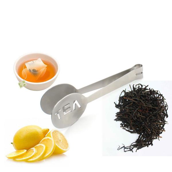 Tong Th/é En Acier Inoxydable Teabag Grip Mini Squeezer Sucre Clip Outils De Cuisine Bar