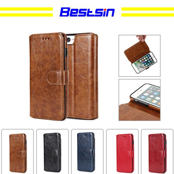 Bestsin Wallet type Petroleum grain mobile phone shell For Iphone X case caso del iphone luxury phone case
