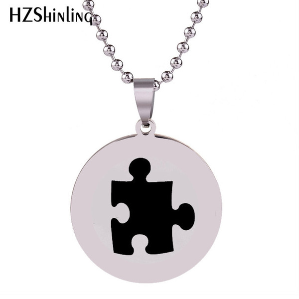 2018 New Puzzle Stainless Steel Necklace Silver Handmade Pendant Necklaces Art Round Jewelry Ball Chain