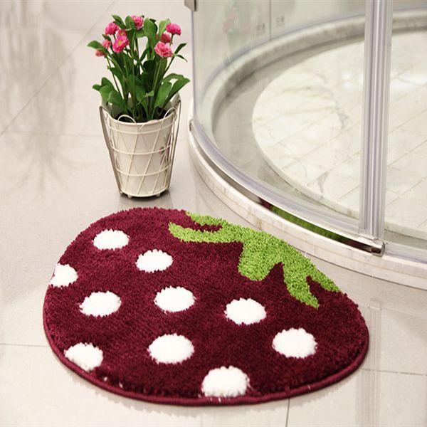 Cartoon 3D Strawberry Mushroom Carpet and Area Rug Home Living Antiskid Kids Play Beding Room Entrance Bathroom Door Floor Mats