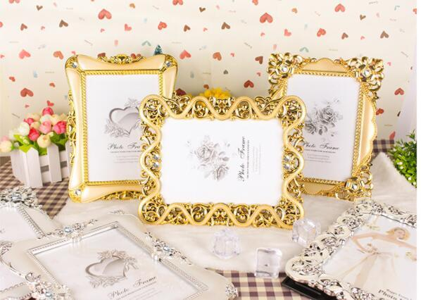 Vintage Luxury Baroque Style Gold Silver Decoration Picture Desktop Frame Photo Frame Gift for Friend Family