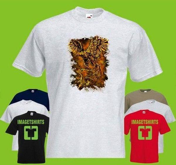 Phoenix Lou Bird Fire Flying Greek Myth Wing Art Graphic T Shirt Tee Shirt Print
