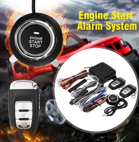9 Unids Coche SUV Entrada Sin Llave Sistema de Alarma de Arranque del Motor Botón de Arranque Remoto Parada Automática