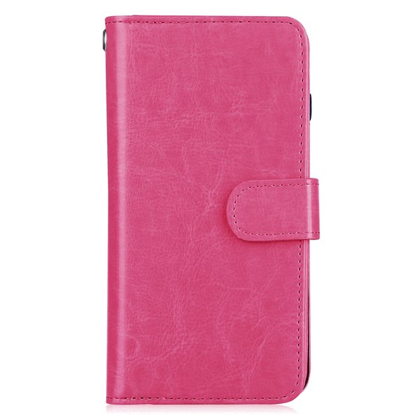 2018 Exquisite newest For iphone 8 plus cases Detachable Crazy horse oil wax pu leather phone case multi card slots wallet case