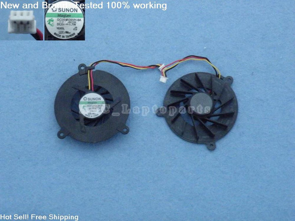 Free Shipping Original New CPU Cooling FAN For ASUS A6 A6000 M9 A8 A8H A8J A8N Z9 Z99 Z99D F3 F8S F8V Laptop GC054509VH-8A