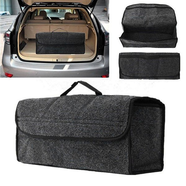 nterior Accessories Stowing Tidying Portable Foldable Car Storage Bag Felt Cloth Trunk Organizer Collapsible SUV Auto Interior Tidying Co...