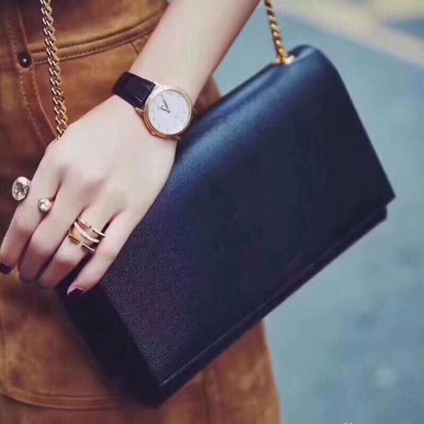 Borsa a tracolla della borsa del progettista delle signore delle donne della borsa a catena classica Borsa a tracolla della borsa delle borse della borsa di cuoio delle donne Totes Crossbody Bag