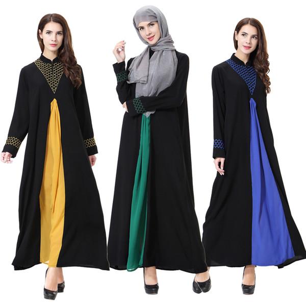 Abayas For Women Vestido 2018 UAE Qatar Linen Muslim Hijab Dress Women Jilbab Kaftan Abaya Dubai Robe Musulmane Longue Clothing