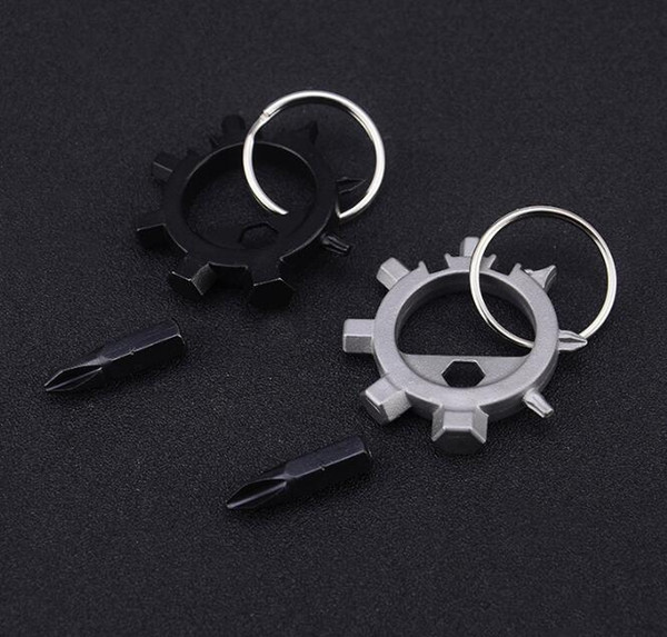 Ringtool EDC Outdoor Multifunctional Tool Octopus Bicycle Tool Repair Tools Screwdriver 12 Function Pocket Tool Accessory