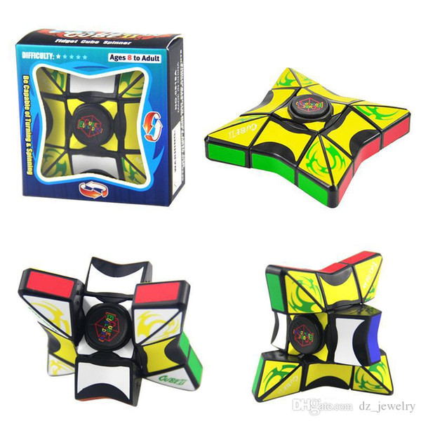 2018 Cube Spinner Fidget Cubes Spinning Magic Cube EDC Anti-stress Rotation Spinners Fidget Spinners Decompression Novelty Toys