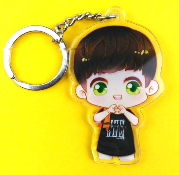 Manufacturer S Customized Acrylic Key Ring Transparent Double Sided Cartoon Animation Chain Of The Car Keys With A Small Giftl Designer Keyrings