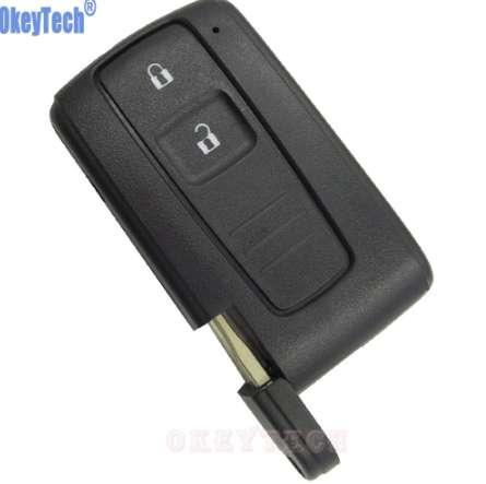 OkeyTech 2 tasti cassa chiave dell'automobile Fob per Toyota PRIUS 2004-2009 COROLLA VERSO chiave sostitutiva Camry chiave con lama