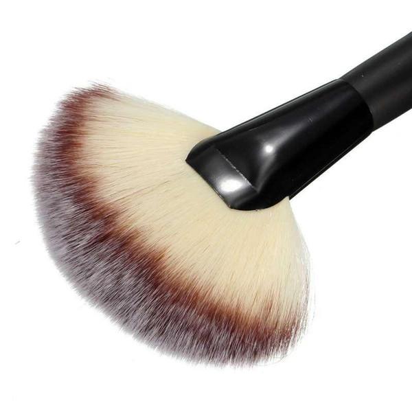 1PC Women Pro Large Fan Goat Hair Blush Face Powder Foundation Cosmetic Makeup Brush Tool Gift