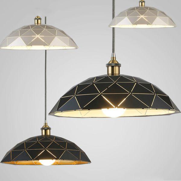 Lampade a sospensione in ferro battuto in stile nordico Lampade a sospensione in ferro battuto in ferro battuto per illuminazione domestica