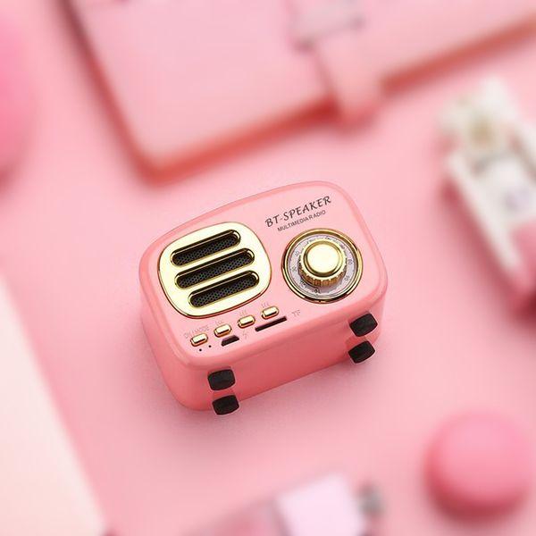HiFi Retro Wireless Bluetooth Speakers Radio BT02 New Cute Mini Bass TF Card Interface Speaker Innovative Gift Bluetooth V4.2