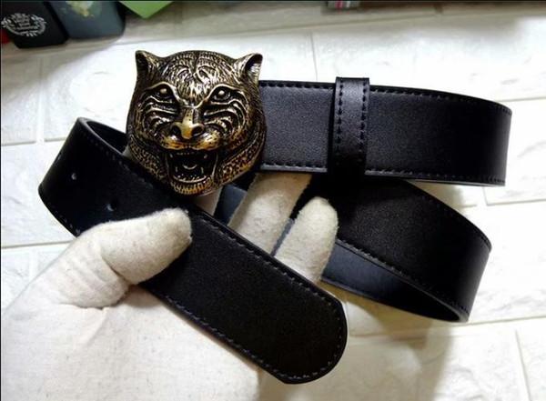 Nuova cintura di marca grande tigre fibbia cinture designer cinghie cintura di lusso cinghie di alta qualità per gli uomini cintura in pelle