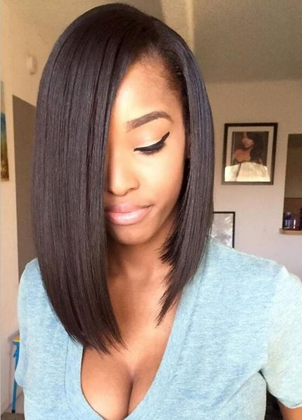9A Grade Stock Straight Bob Wigs Malaysian Hair Virgin Human Hair Full Lace Wigs For Black Women Swiss Lace Frontal Wigs Free Shipping