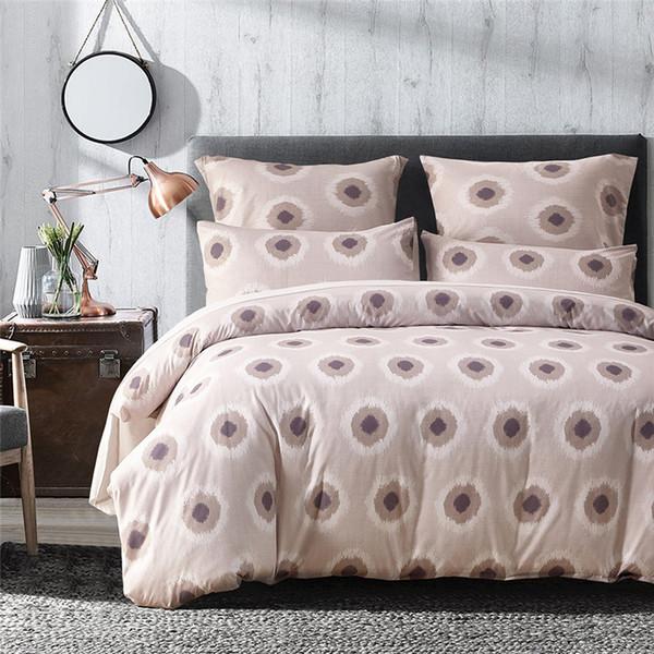 Pink Dot Pattern 2/3Pcs Home Textile Flower Series Bed Linens Bedding Sets Bed Set Duvet Cover Mans Cover Set USA King 3 Size