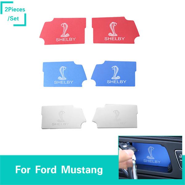 Alluminio interno porta ciotola adesivo serpente Logo 3 colori adatti per Ford Mustang Accessori interni auto