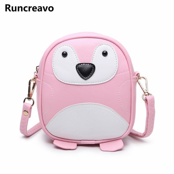 Penguin Mini Messenger bags Chains cute Cat ear shoulder bag small White handbag Round women PU crossbody Fashion Brand handbags