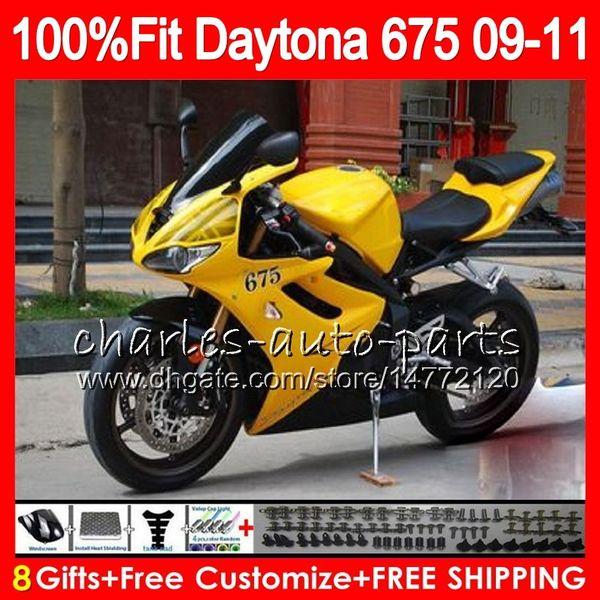 Injection For Triumph Bodywork Daytona 675 2009 2010 2011 2012 107HM.61 Daytona 675 09 10 11 12 Daytona-675 Daytona675 Fairing Yellow black
