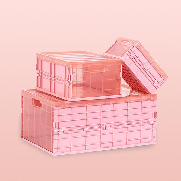 Katlanır Saklama Kutusu Ofis Ev Dağıtılmış Öğeleri Organizatör Cuboid PP Katlanabilir Kovaları / Konteyner 3 Boyutu 3 Renk