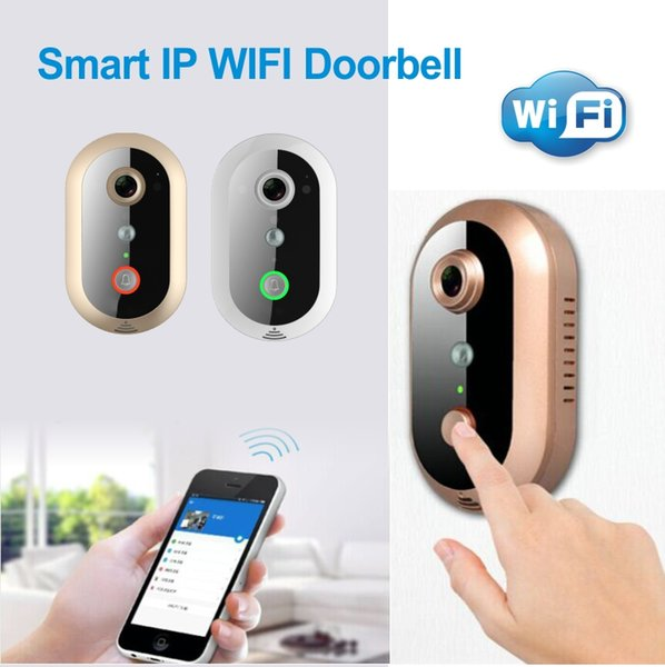 Smart Video Doorbell 720P HD IP Camera Wireless WiFi with Night Vision real time video audio, unlock, P2P
