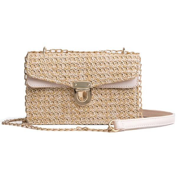 2018 Bohemian Style Straw Bags for Women Small Beach Handbags Summer Vintage Rattan Bag Handmade Kintted Crossbody Bag D18102303
